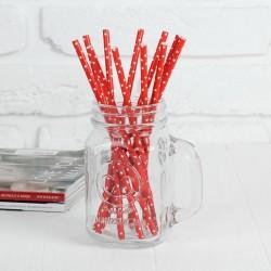 Трубочки красные «Круги»,...