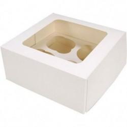 Коробка на 4 капкейка сокном