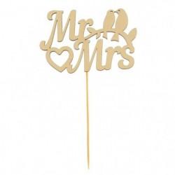 Топпер деревянный «Мистер и...