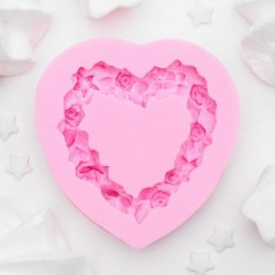 Молд силиконовый «Сердце в...