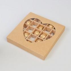 Коробка для конфет крафт,...