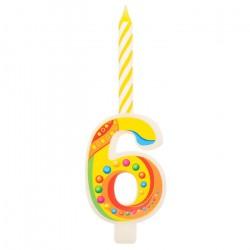 Свеча цифра «6»