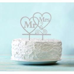 Топпер Mr&Mrs, серебро
