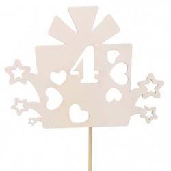Топпер Цифра «4» Подарочек