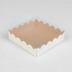 Коробка для печенья крафт...