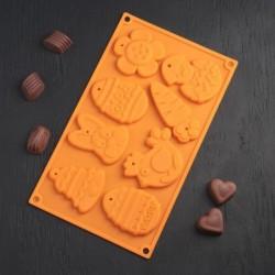 "Форма для шоколада ""Животные"""