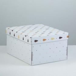 """Коробка для подарков """"Елочки"""""""