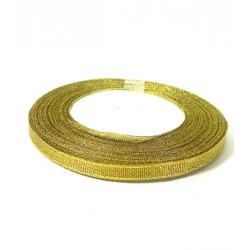 Лента парча золотая 6мм
