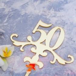 Топпер «50», золото