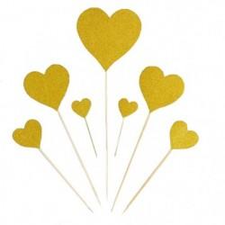 Топпер «Сердце», 7шт
