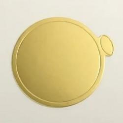 Подложка малая золото 9см с...