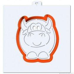 Вырубка Пухлый бык + трафарет