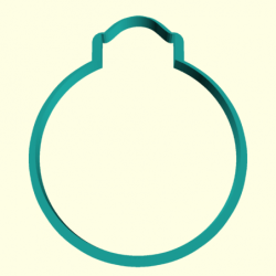 Вырубка Елочный шар 2 9см