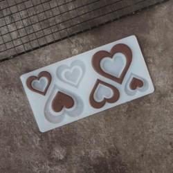 Мат для шоколада Сердечки 3...