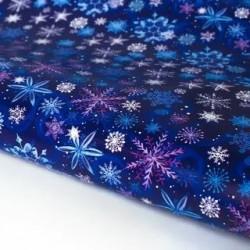 Бумага «Синие снежинки» 70×100