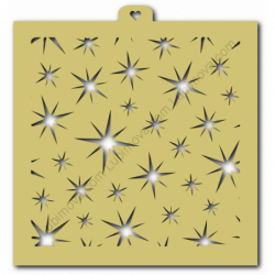 Трафарет Звезды. Блики. Фон