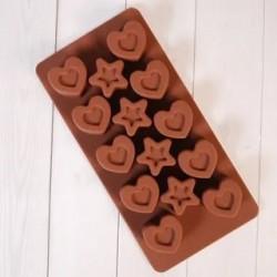 Форма для шоколада «Звезды,...