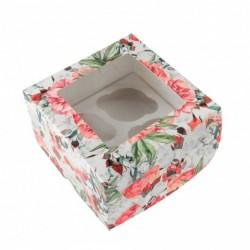 Коробка для 4капкейков с...