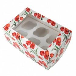 Коробка для 6капкейков с...