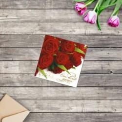 Мини-открытка Отвсей души,...