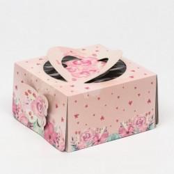 Коробка для торта 21×21×12...