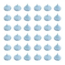Безе 2см голубые рифленые 50г