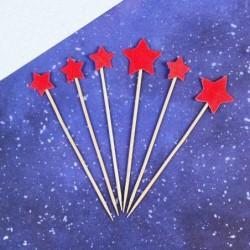 Топпер «Звезда», 6шт красный