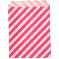 Пакет Полоска розовая 13х16см