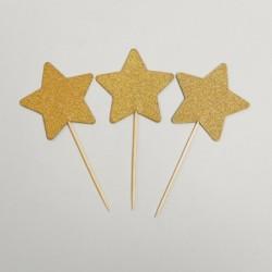 Шпажки «Звезда», 12шт золото